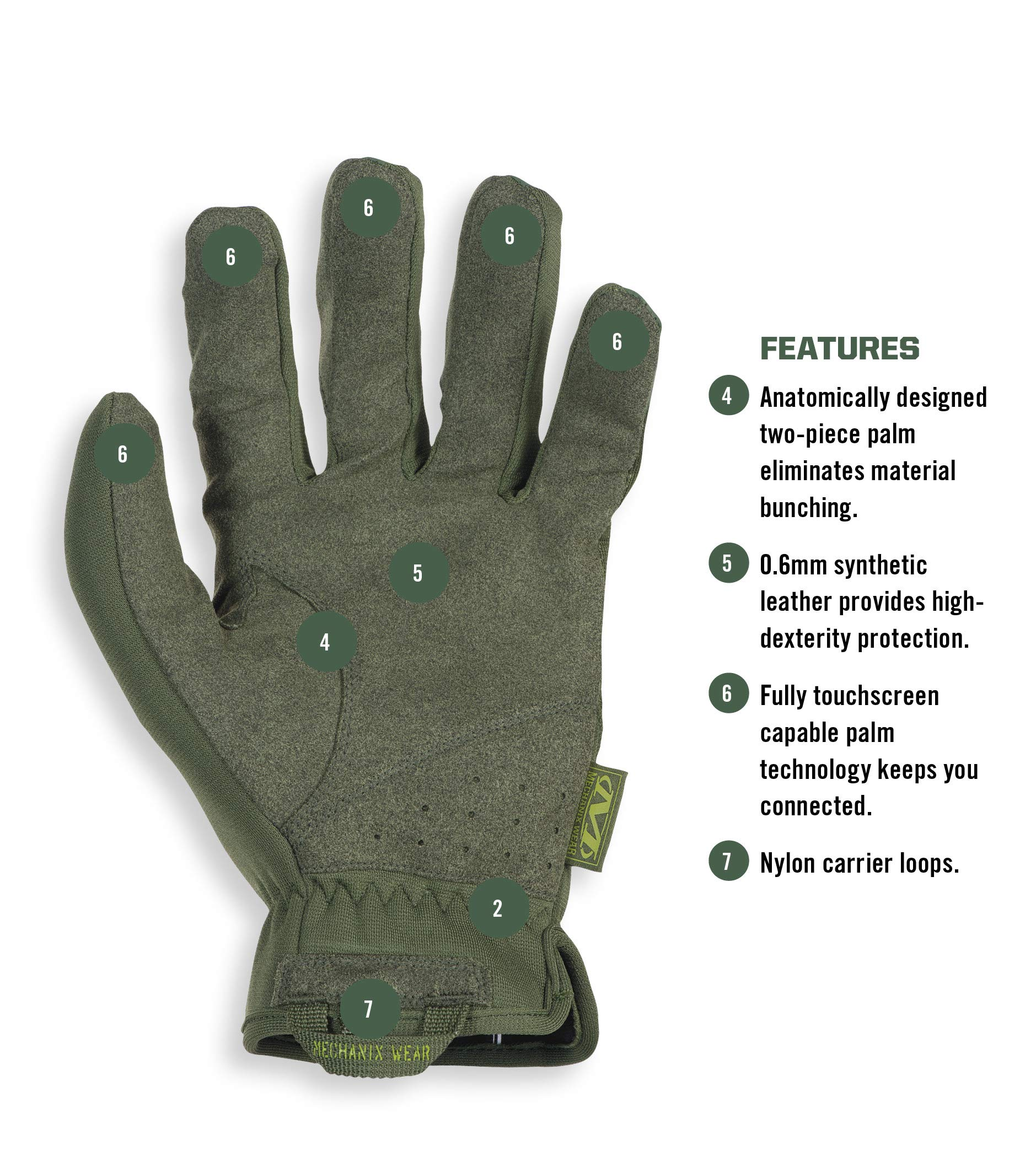 Mechanix Wear FFTAB-60-010 FastFit Large, Od Green by Mechanix Wear (Image #3)