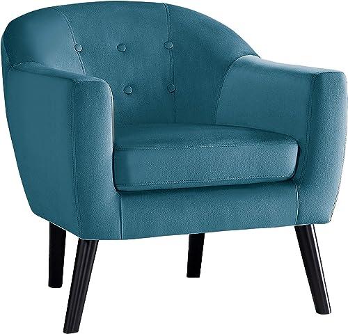 Homelegance Velvet Accent Chair, Blue