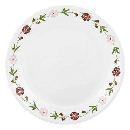 Corelle Livingware Spring Pink Vitrelle Glass Dinner Set, 21-Pieces, Multicolor