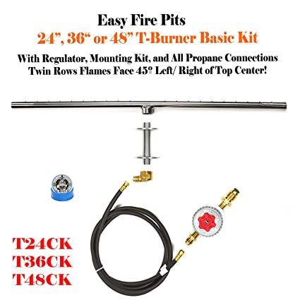 Complete basic do it yourself diy 24 low profile tburner propane complete basic do it yourself diy 24quot low profile tburner propane fire pit fire solutioingenieria Choice Image