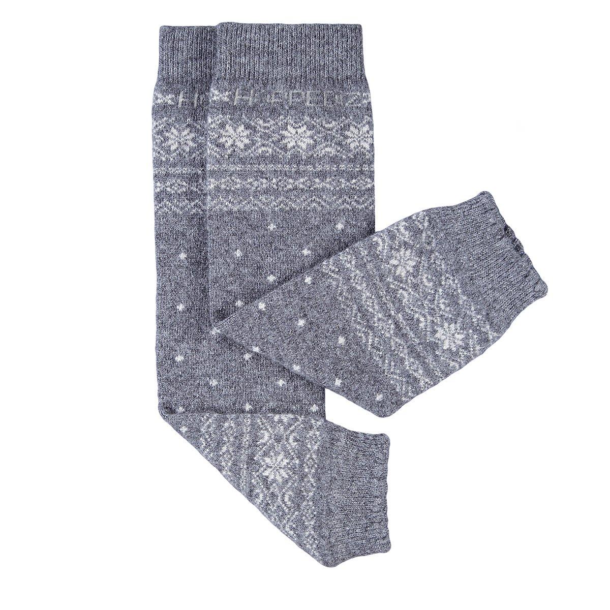 Hoppediz scaldamuscoli in cashmere//lana merino per bambini color grigio norvegese