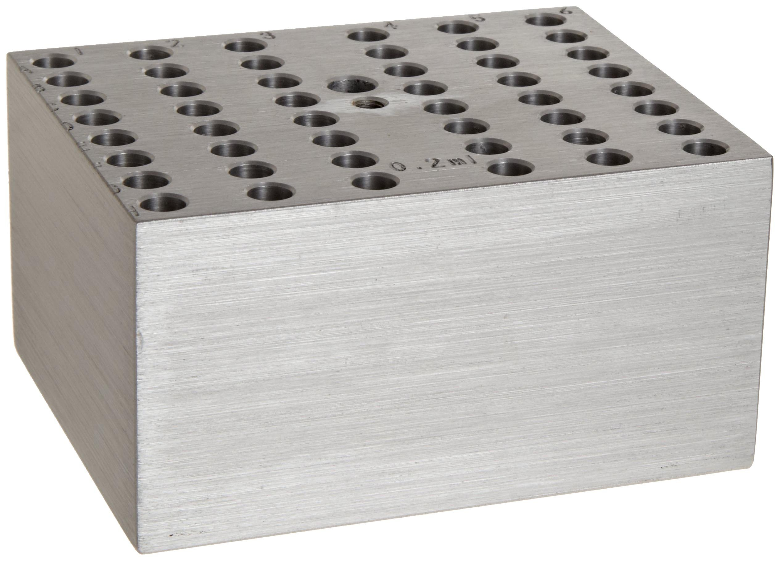 Benchmark Scientific BSW02 Aluminum Dry Bath Heating Block for Digital Dry Bath Incubator, 48 x 0.2mL Tubes or 6 PCR Strips of 8 Tubes Each Capacity by Benchmark Scientific
