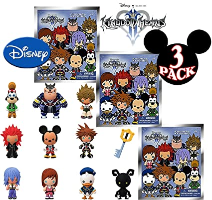 Disney Kingdom Hearts Series  D Foam Figures Collectible Blind Bag Key Rings Gift Set Party