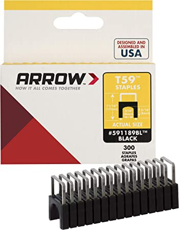 Amazon Com Arrow 591189blss Genuine T59 Insulated 5 16 Inch By 5 16 Inch Staples Black 300 Pack Home Improvement