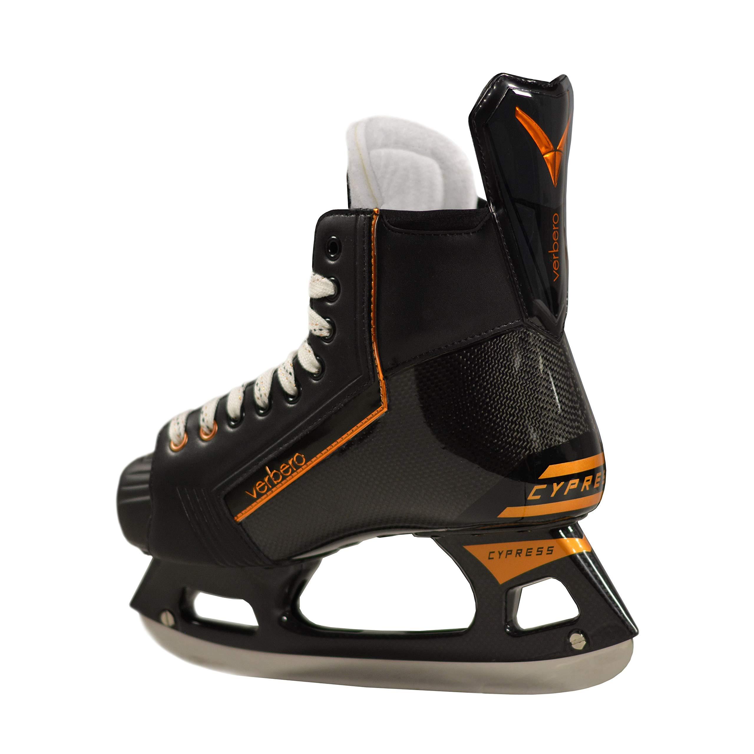VERBERO Cypress Pro+ Ice Hockey Skate (Black 6.0) by VERBERO (Image #4)