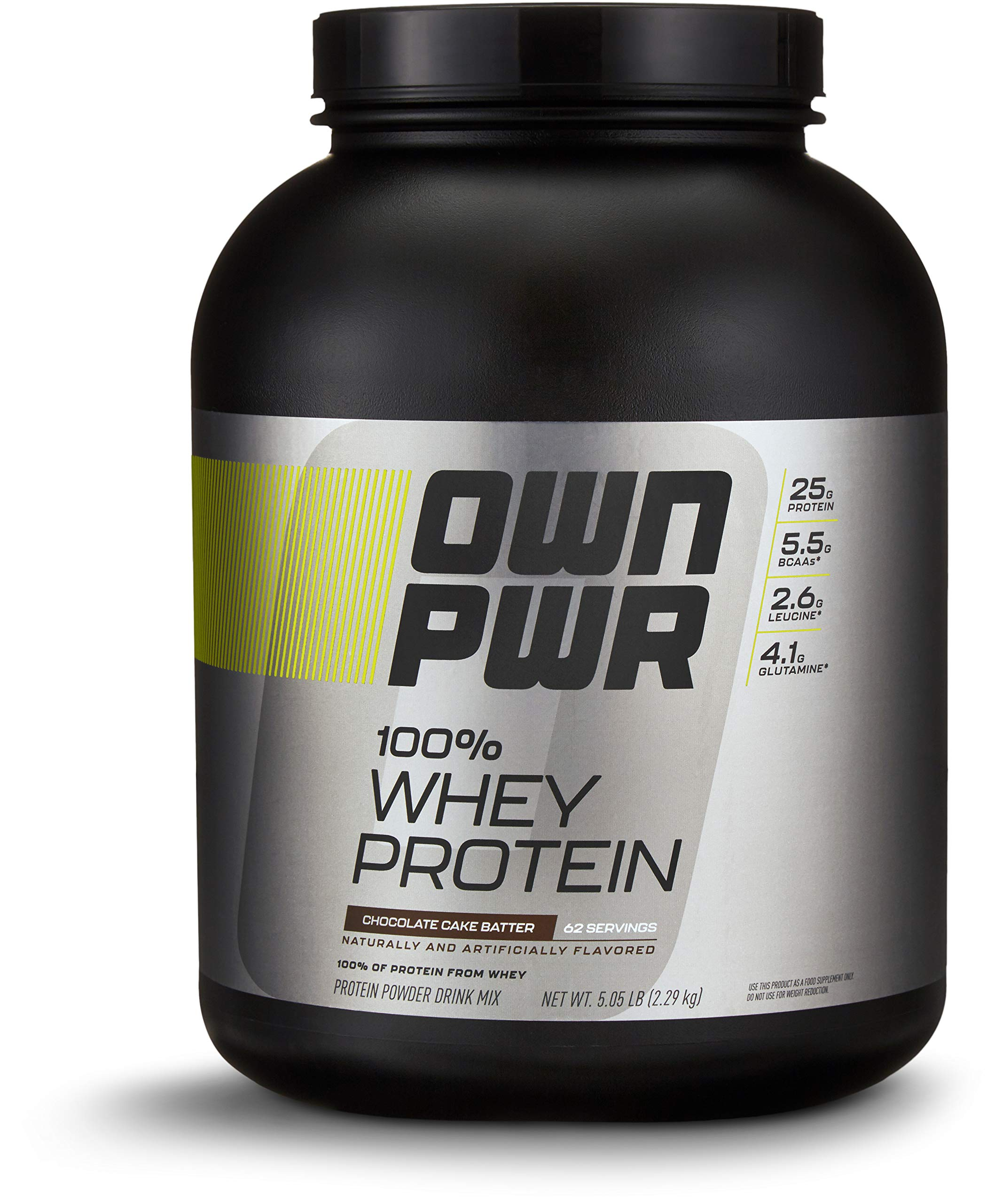 OWN PWR 100% Whey Protein Powder, Chocolate Cake Batter,  25 G Protein with Enzymes, 5 Pound (62 Servings) by OWN PWR