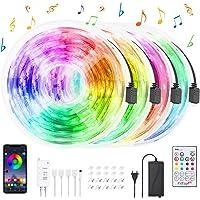 Tira LED Bluetooth 20M, HeertTOGO Luces de Tiras LED WiFi RGB 5050 12V 5A con 300 LEDs, Ser Controlado Por APP…