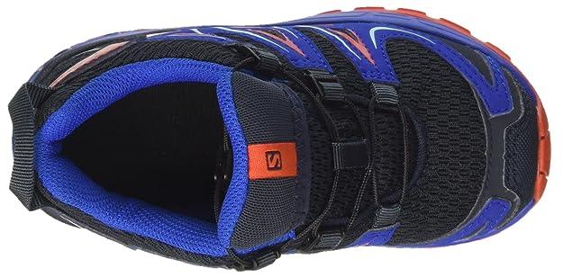 SALOMON Unisex Kids' Xa Pro 3D J Outdoor Multisport Shoes, (Deep WaterScuba BlueTonic Green), 12.5 UK Child