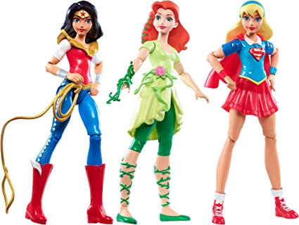 DC Super Hero Girls Triple Team Collection Dolls 3 Pack