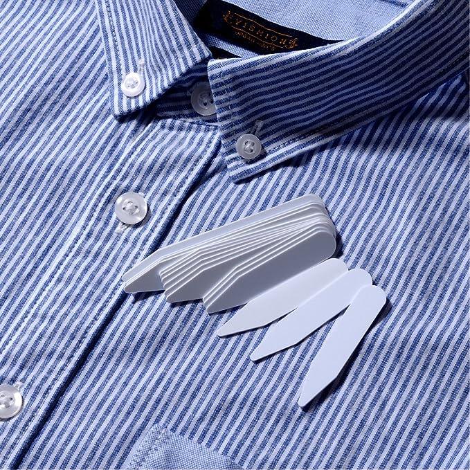 10 x COLLAR BONES STIFFENERS STAYS FOR MENS WOMENS DRESS SHIRTS FORMAL PLASTIC
