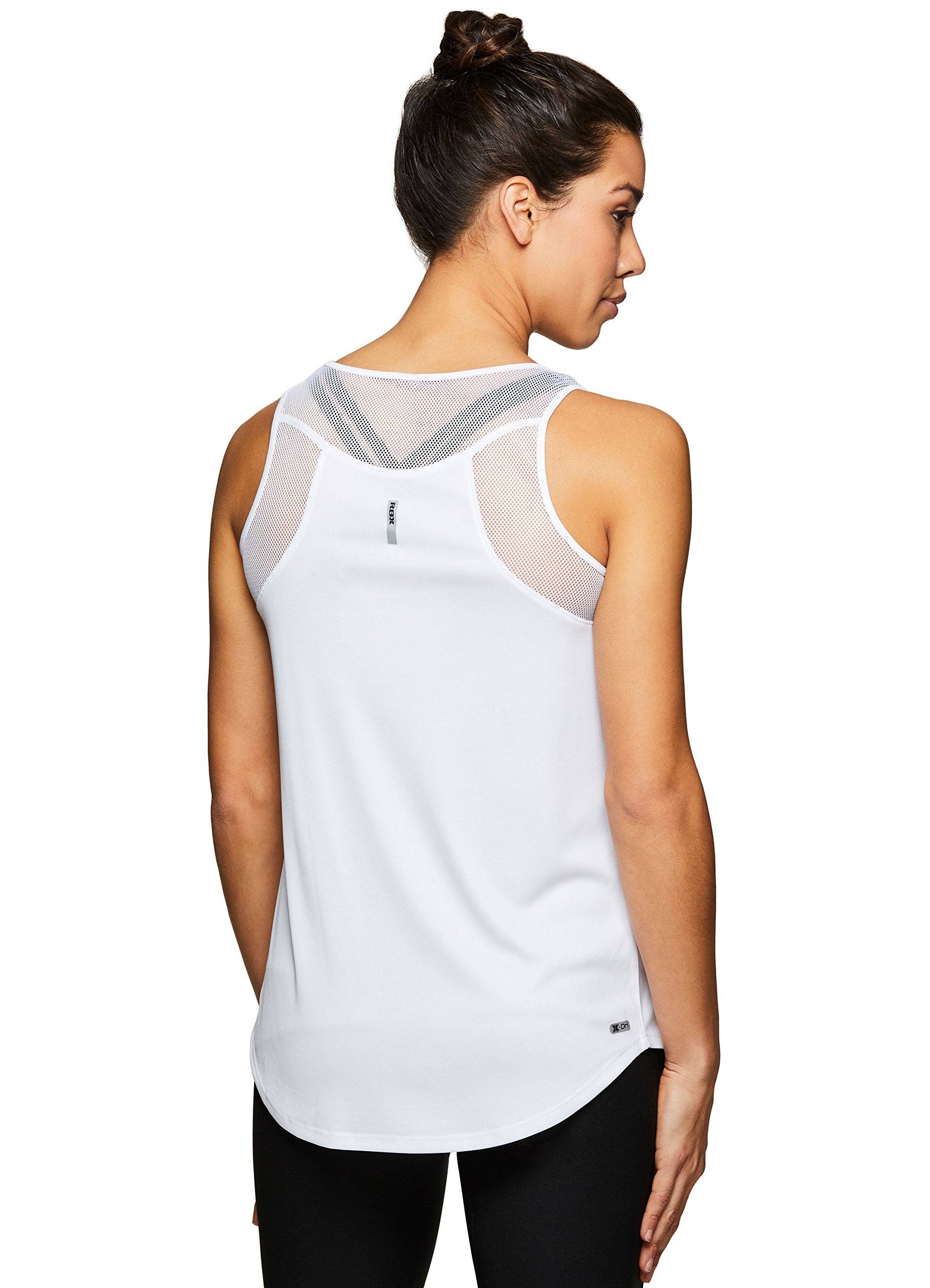 RBX Active Women's Yoga Tank Top with Mesh Yoga White M