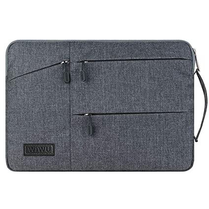 WIWU 15-15.6 Inch Waterproof Laptop Sleeve Case Briefcase Spill Resistant for Macbook//Notebook//Tablet//Ultrabook//Netbooks// with Zipped Pockets and Extra Storage Space