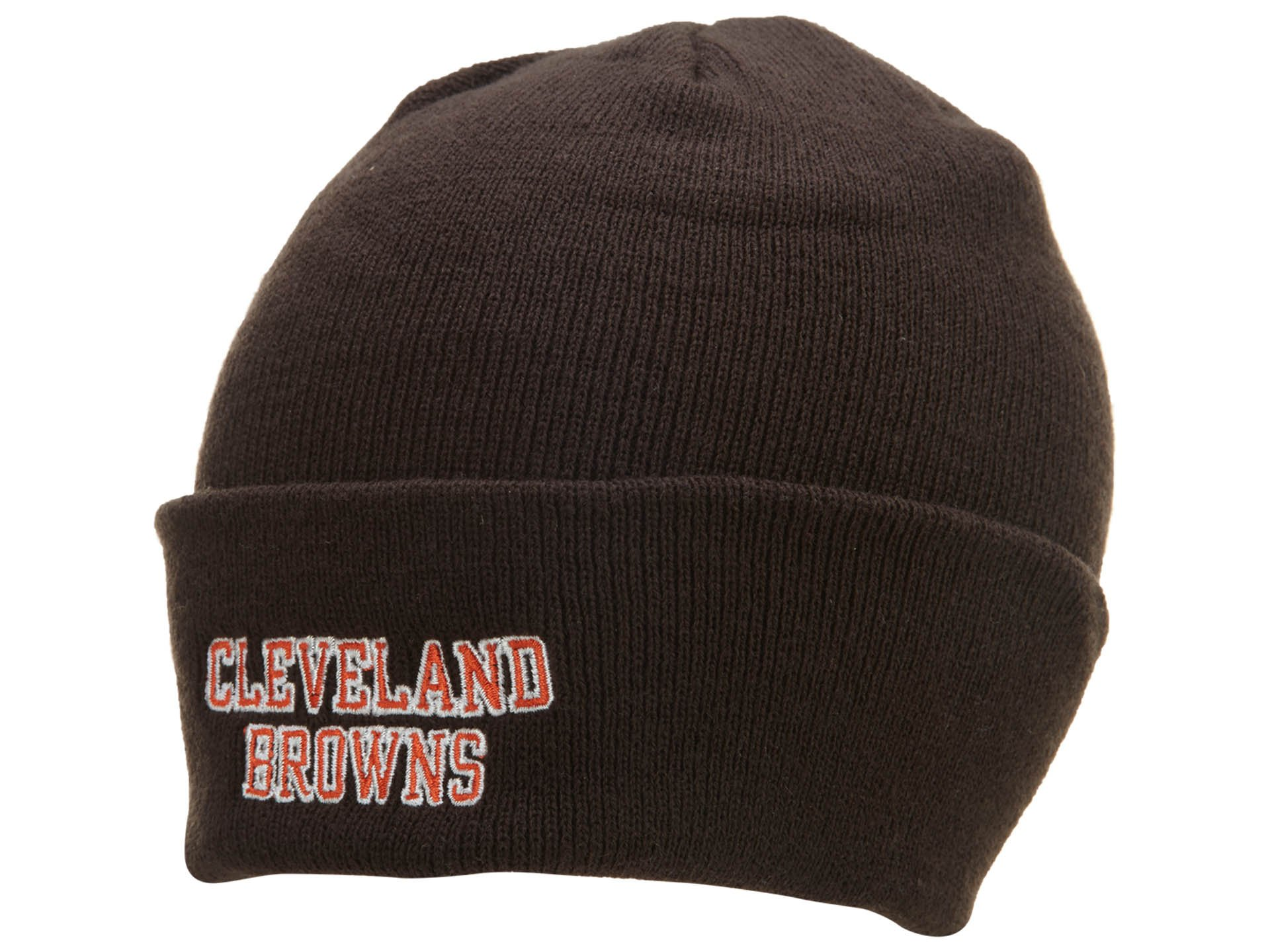 Cleveland Browns Knit Hat: Brown Stadium Cuffed Knit Cap by Reebok (Image #1)
