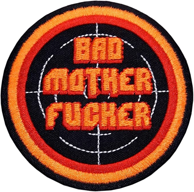 Baño motherfucker parche para planchar Patch Biker Diana Pulp Fiction: Amazon.es: Deportes y aire libre
