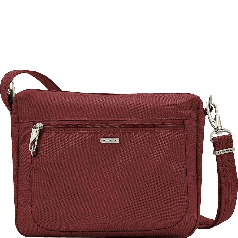 Travelon Anti-Theft Classic Small E/w Crossbody Bag, Wine