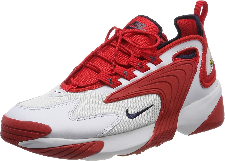 Nike Mens Zoom 2k Lifestyle Gym Running Shoes Red 10.5 Medium B,M