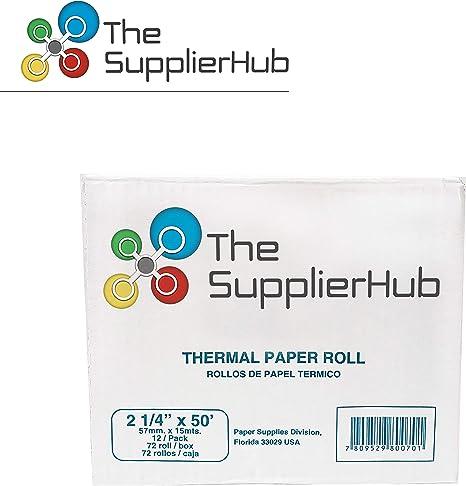 50 Rolls 8020 8010 2 1//4 x 50 Thermal Printer Paper Rolls Nurit 8000 8000S