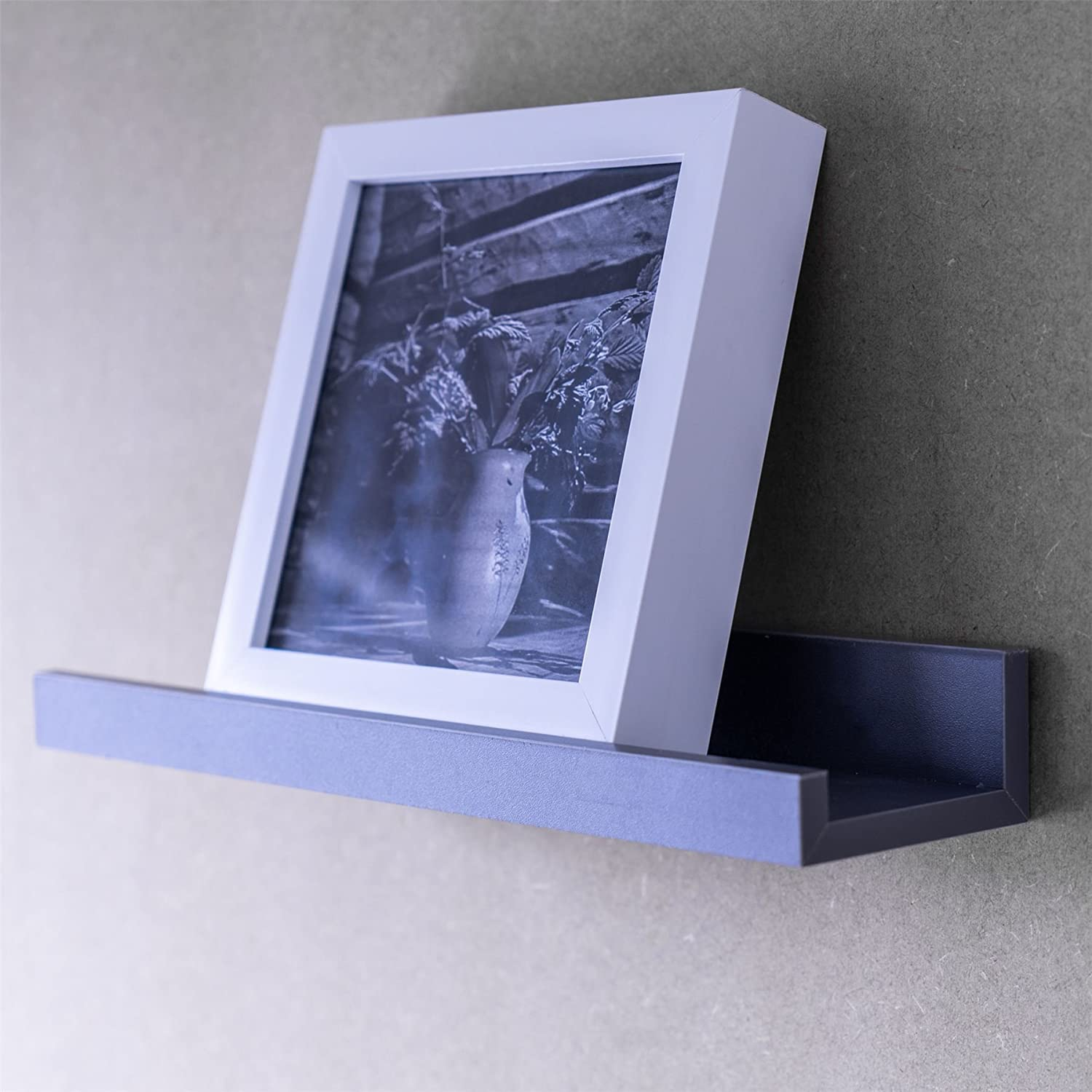 Grey Pack of 3 Harbour Housewares 32.5cm Floating Wooden Picture Ledge Wall Shelves