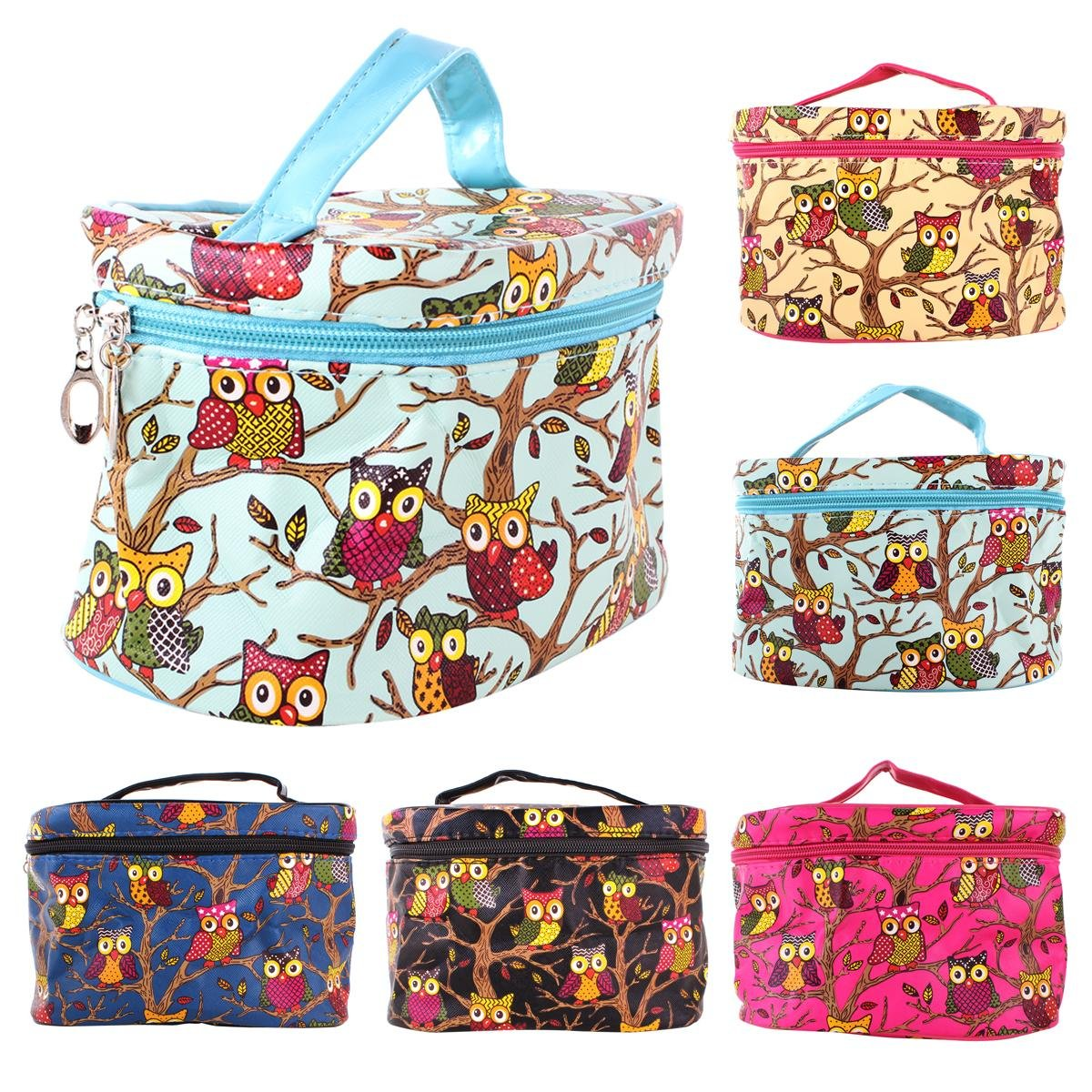 8c684772eb YESURPRISE Ladies Owl Pattern Cosmetic Makeup Bag Case Travel Toiletry Wash  Hand Beauty Bag Black Fashion Gift  Amazon.co.uk  Beauty