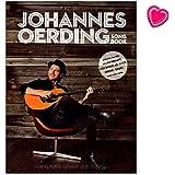 Johannes Oerding Songbook - sein erstes Songbuch mit 16 Titeln für Klavier, Gesang und Gitarre arrangiert - Notenbuch mit mit bunter herzförmiger Notenklammer