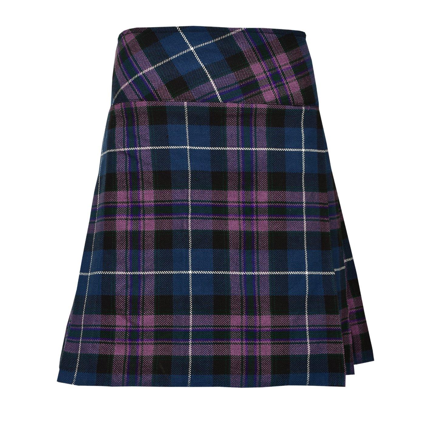 Ladies Knee Length Kilt Skirt 20'' Length Tartan Pleated Kilts - Pride Of Scotland (36'')