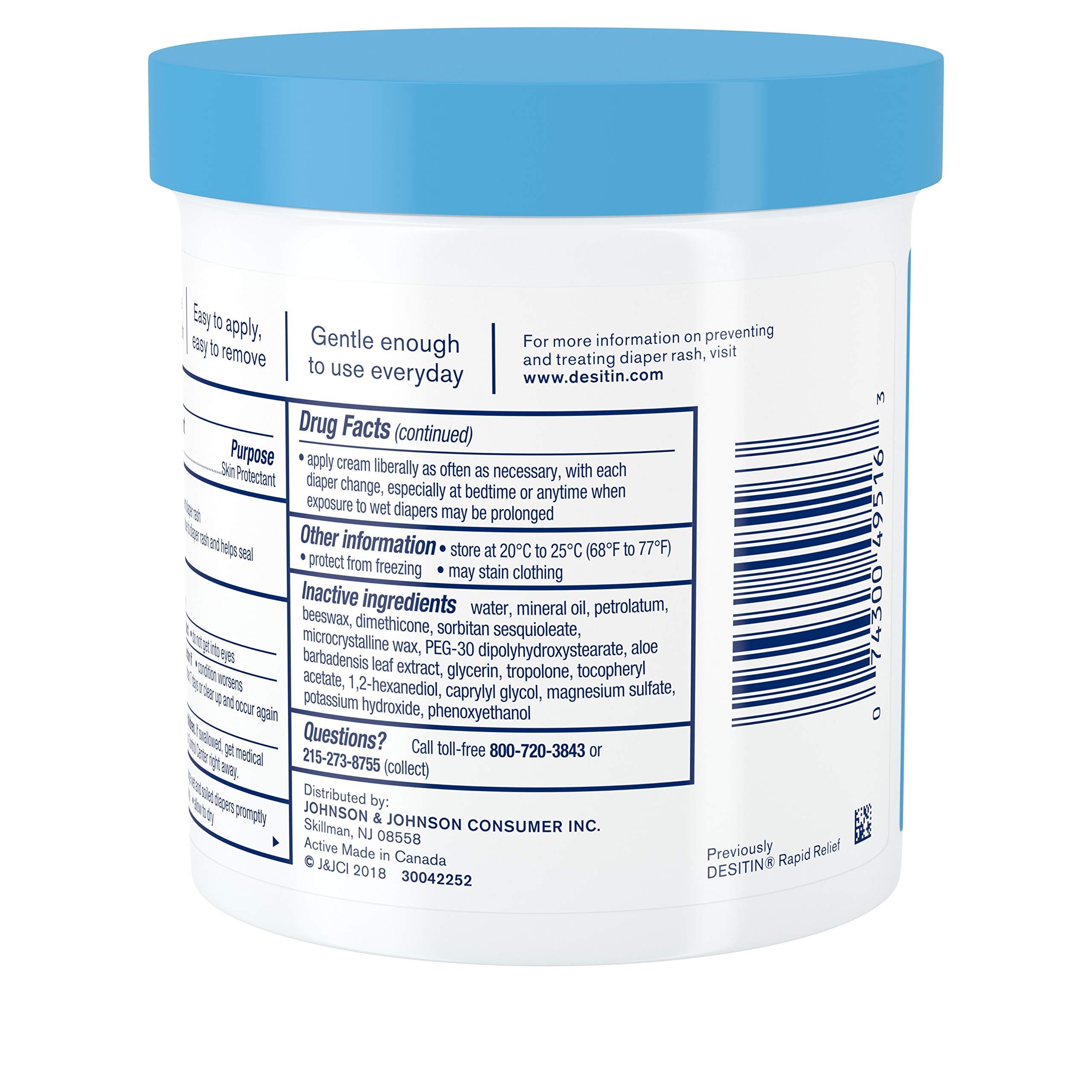 Desitin Daily Defense Baby Diaper Rash Cream with Zinc Oxide to Treat, Relieve & Prevent diaper rash, 16 oz by Desitin (Image #8)