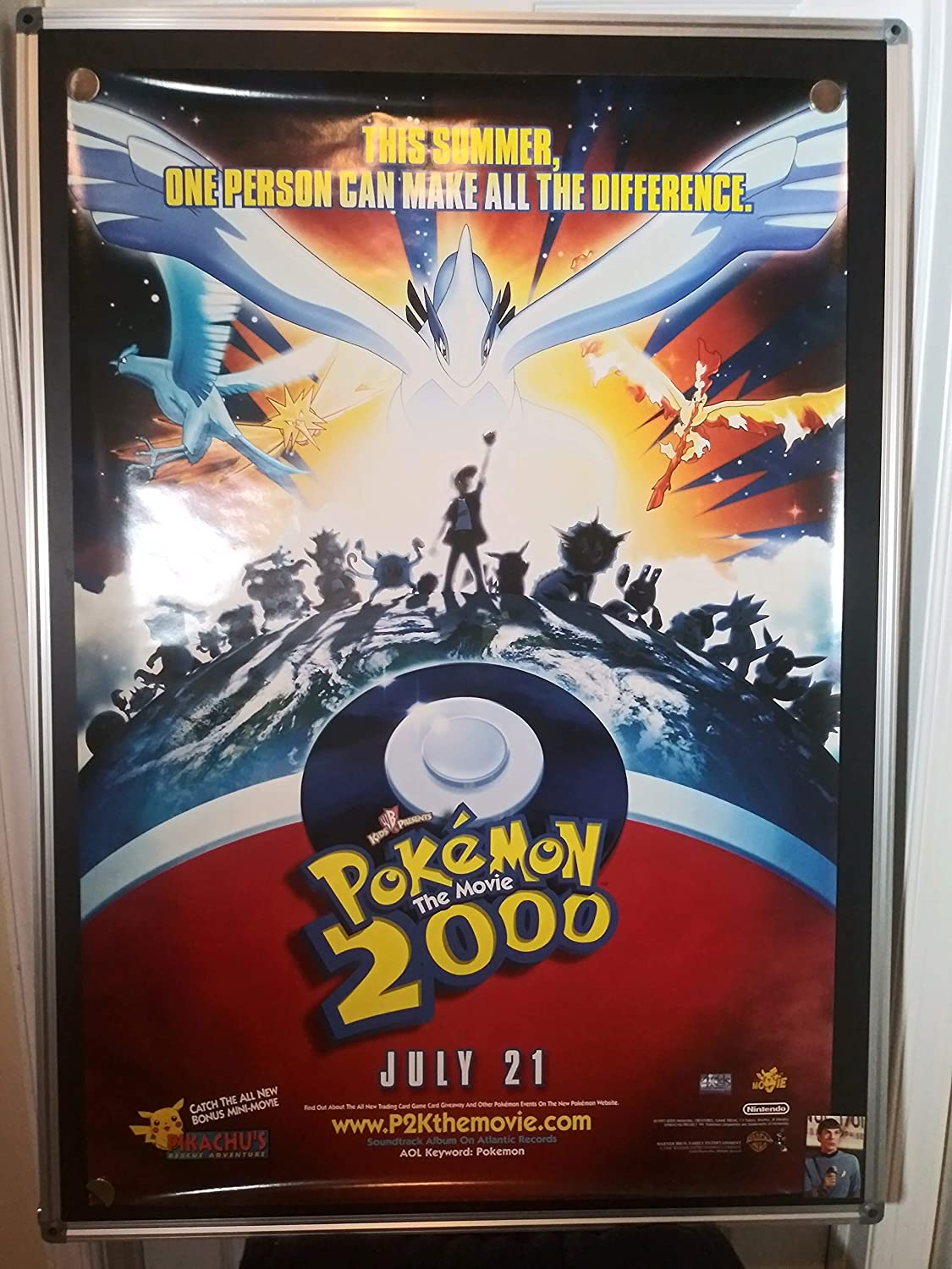 Pokemon The Movie 2000 Original Double Sided Rolled 27x40 Movie