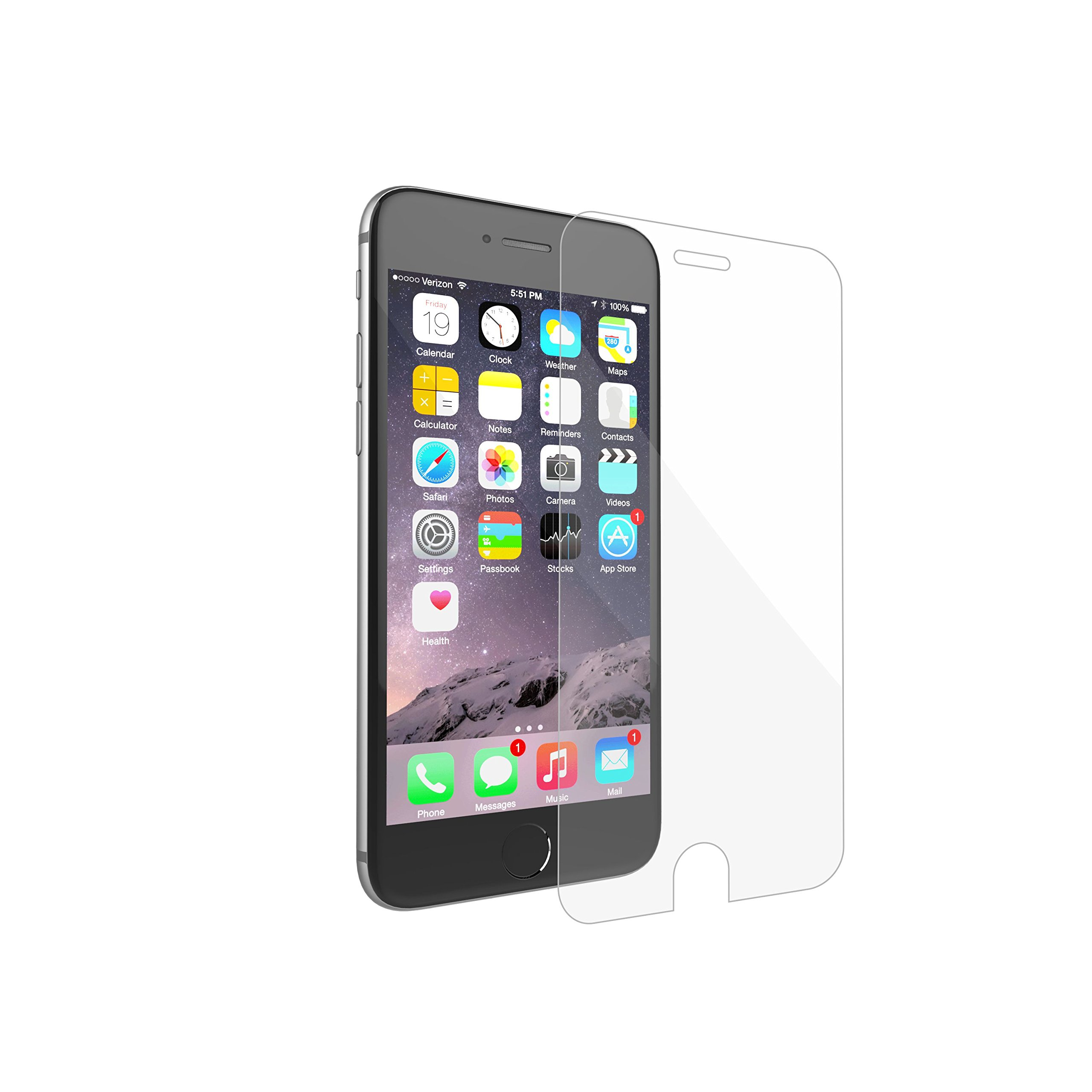 TAMO Shatterproof Glass Screen Protector with Nano-Slim Technology, iPhone 6 Plus/6s Plus by MOTA (Image #2)