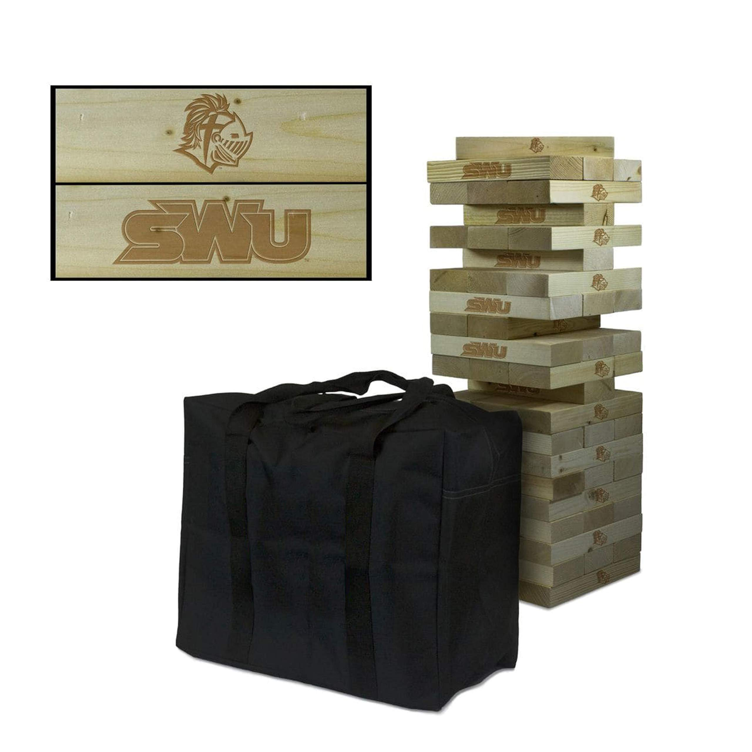 Victory Tailgate NCAA Giant Wooden Tumble Tower Game Set - Southern Wesleyan Warriors by Victory Tailgate