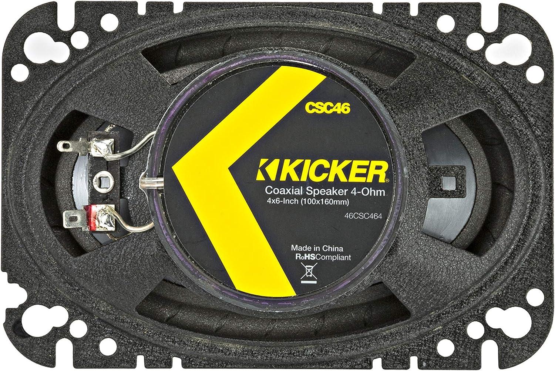 Kicker 46CSC464 Car Audio 4x6 Coaxial Full Range Stereo Speakers Pair CSC46