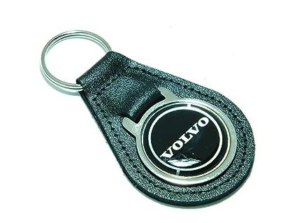 Volvo llavero calidad negro llavero de cuero: Amazon.es ...