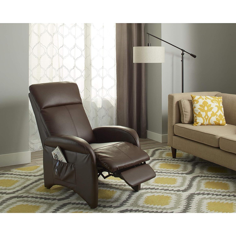 リクライニングchair-見このスマート、Addinリクライニングチェア椅子Made with耐久性ビニールコンポジション。Perfect Piece Officeの家具、リビングルーム。この椅子はパッド入りwith快適なポリウレタンフォーム   B00JI57HZE