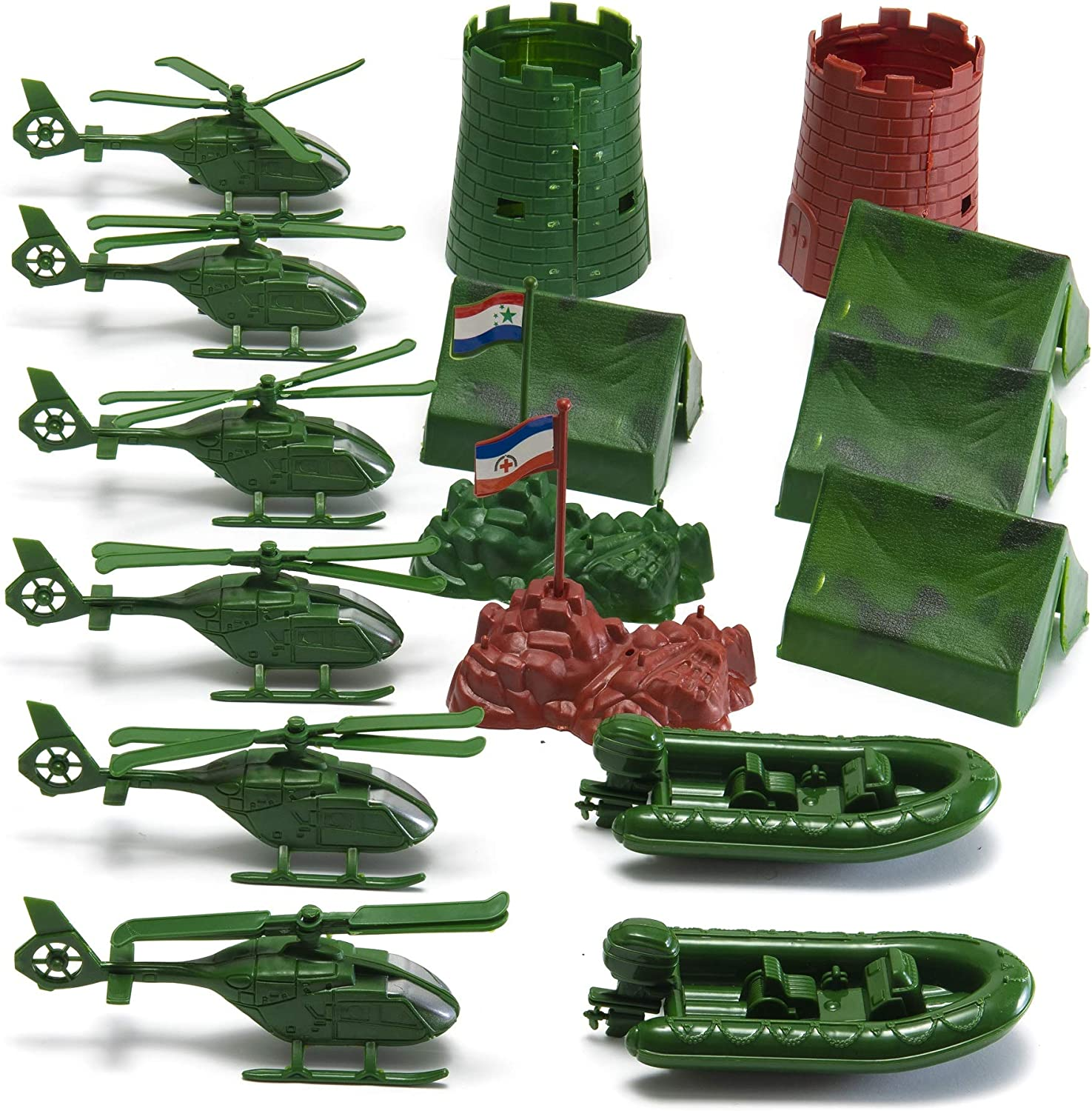 Action Man Set of 4 8x6 prints Helicopter and Look Out Tower Plane Boat