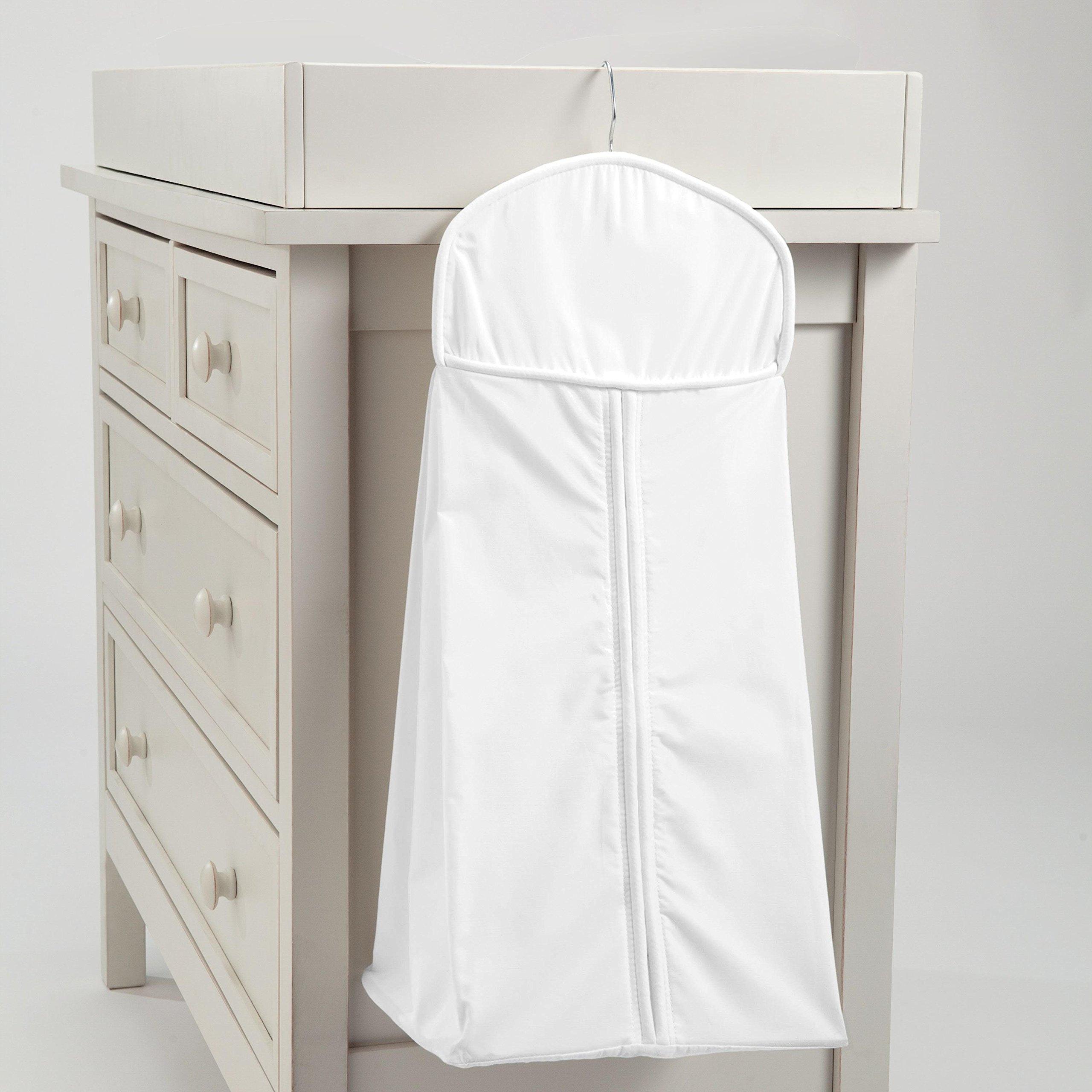Carousel Designs Solid White Diaper Stacker