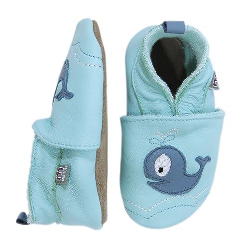 MeltonKrabbelschuh - WAL - Pantuflas Bebé-Niñas, Color Varios Colores, Talla 0-6 Months