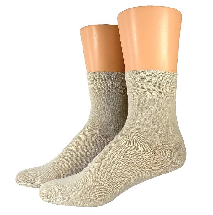 Mujer Negocios calcetines sin goma - algodón, beige, 98% algodón 98% algodón