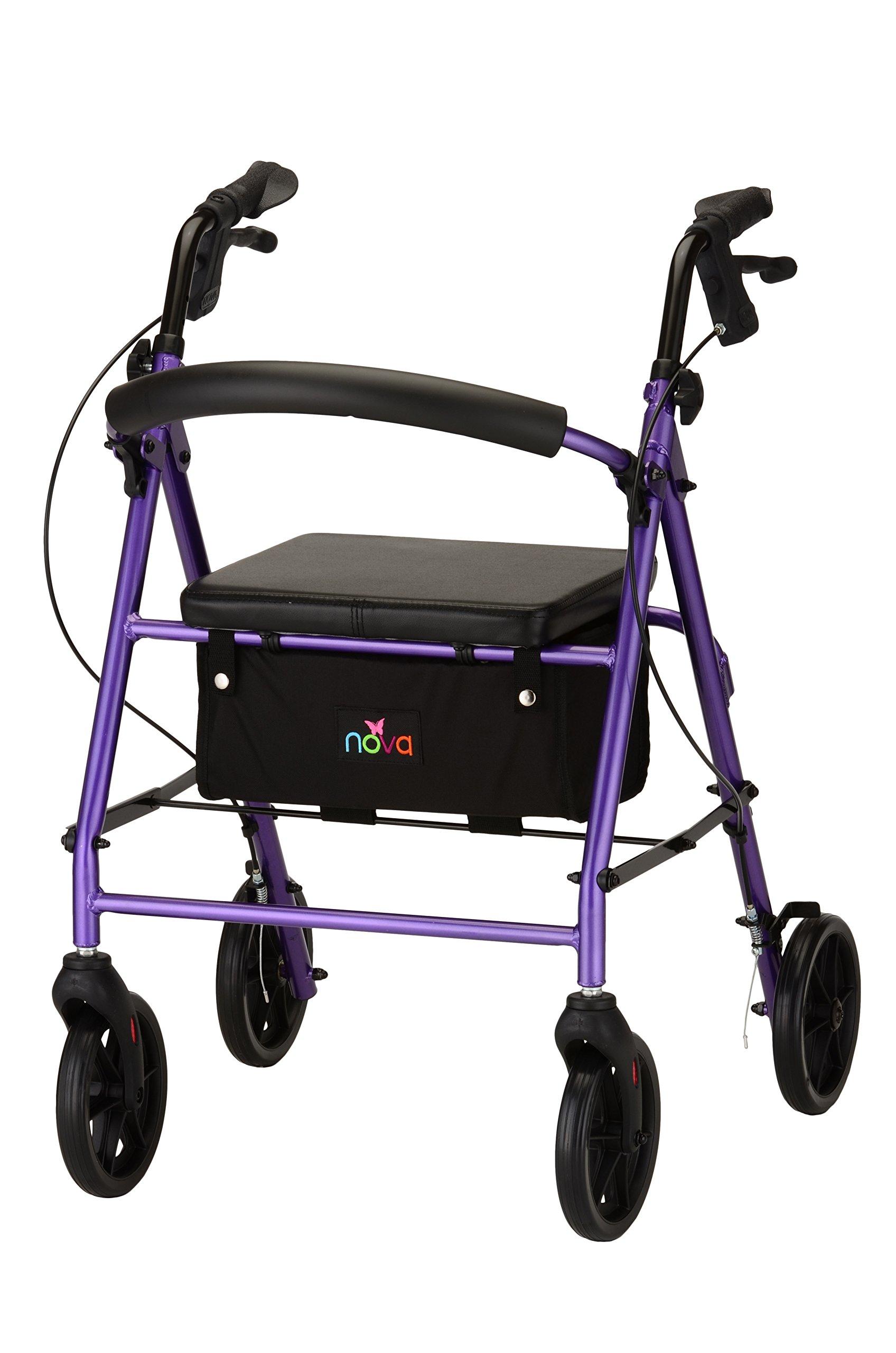 NOVA Vibe 8 Rollator Walker, Purple