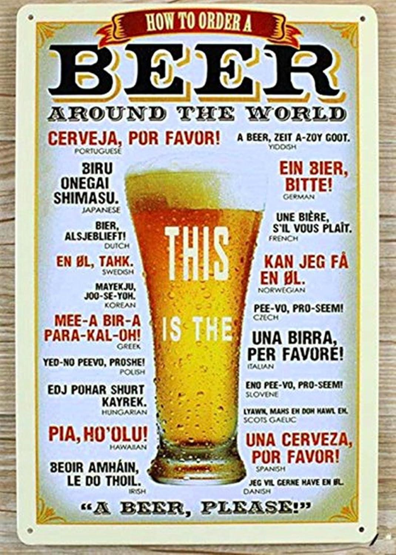 DWE bar poster cold metal poster pubblicitario vintage personalizzato Beer Sign Plauqe Wall Decor retro bar pub 3a
