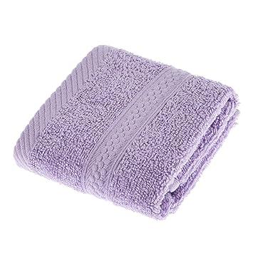 Homescapes Toalla para Cara, 100% algodón Turco Absorbente y Suave, Color Lila 30 x 30 cm: Amazon.es: Hogar