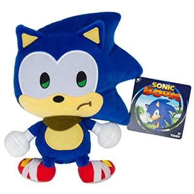 Sonic Emoji Plush, Sad, Blue: Toys & Games
