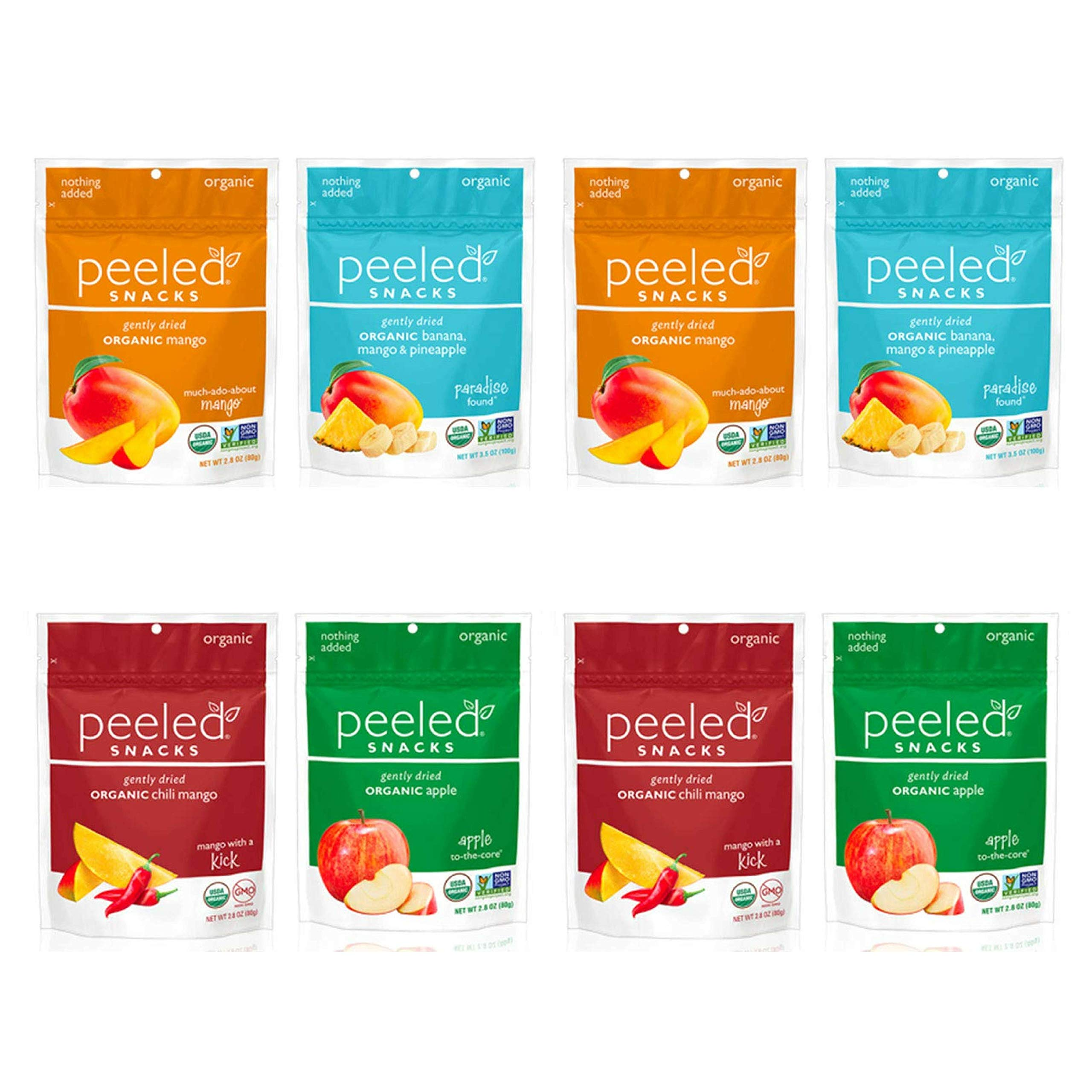 Peeled Snacks Organic Dried Fruit Variety Pack, 8 Count by Peeled Snacks (Image #1)