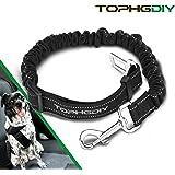 TOPHGDIY Cinturón perro coche de Seguridad para Transportar Mascotas Gato para Viaje Multifunción Cinturón Ajustable elástico de Nylon Negro