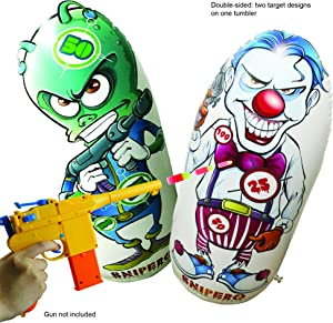 Snipero Nerf Target Punching Bag and Shooting Practice Game - Inflatable Bop Bag