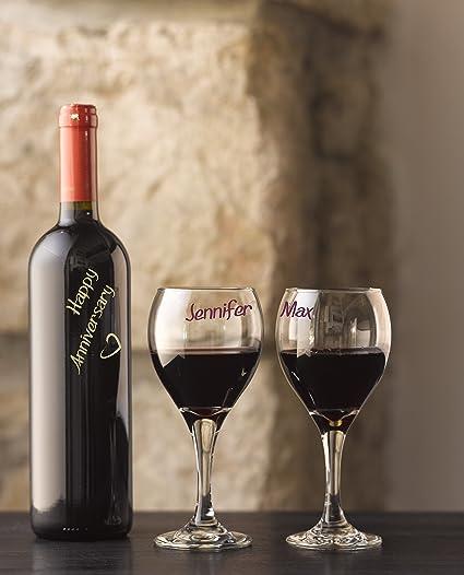 Set de rotuladores de 5colores para cristal, para copas de vino Fá