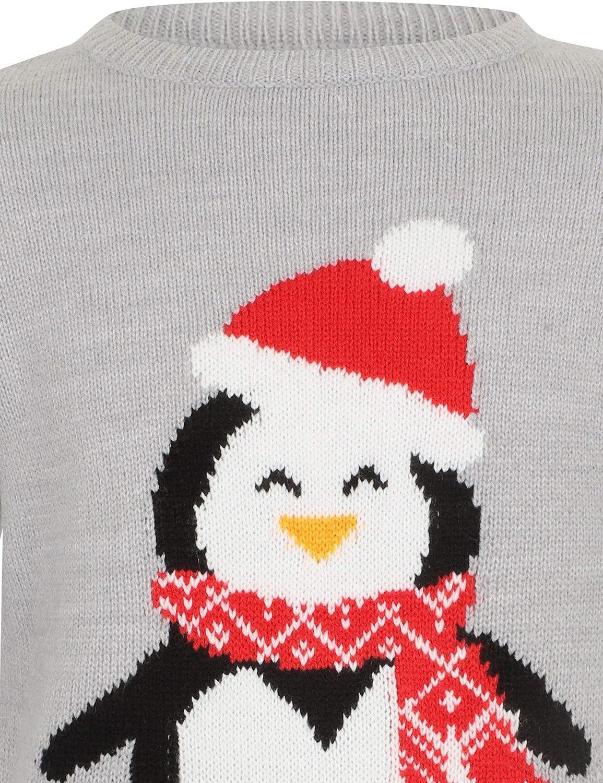 Childs Knitted Penguin Christmas Jumper