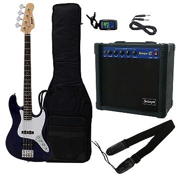 Pack de bajo electrico HARLEY STORM JB20SBPACK2 en color Sunburst con amplificador: Amazon.es: Instrumentos musicales
