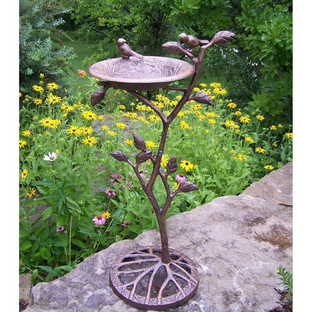 Amazon.com: Oakland Living Meadow Bird Bath, Antique Bronze: Garden ...