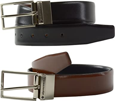 Alpine Swiss para hombre vestido cinturón reversible negro marrón ...