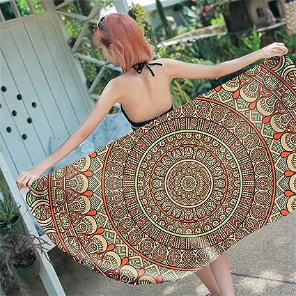 Amazon.com : W.ILGF 3D Printed Mandala Rectangle Beach Towel ...