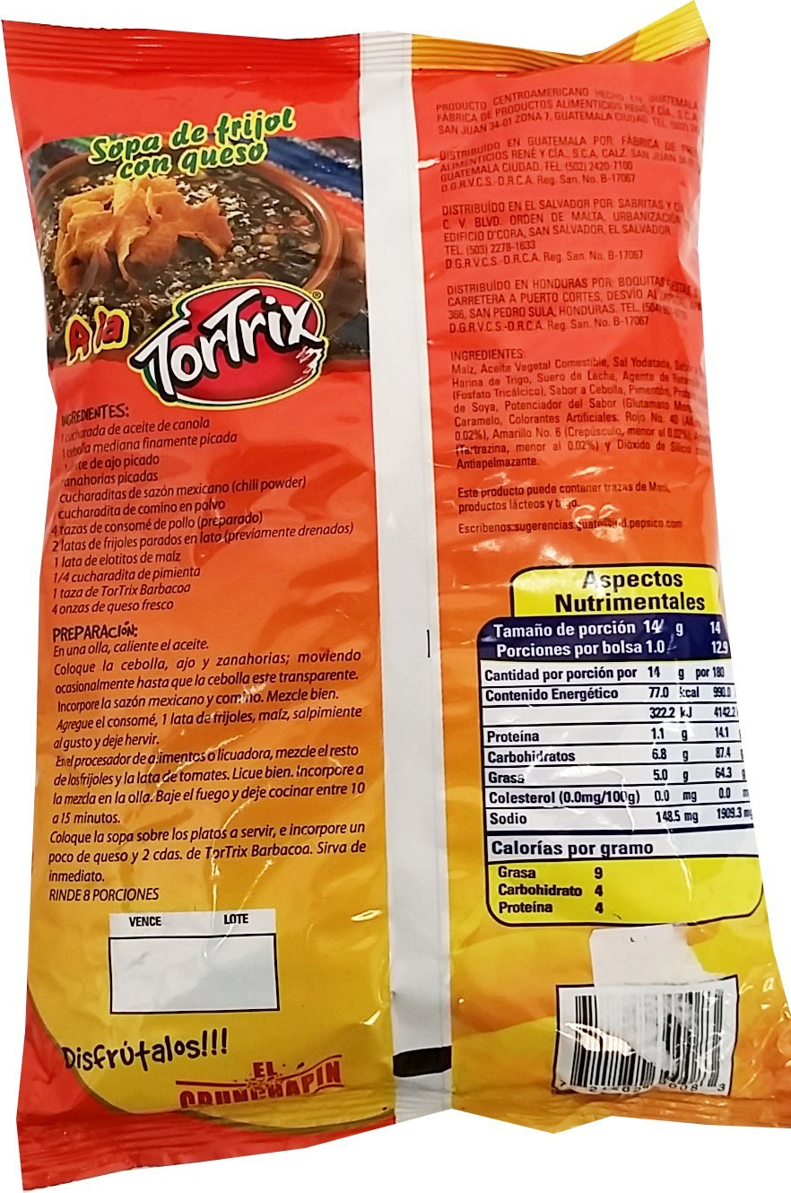 Amazon.com : Tortrix Barbecue 6.35 oz -Tortrix Barbacoa Paquete Familiar (Pack of 8) : Grocery & Gourmet Food
